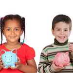 kids holding piggy banks